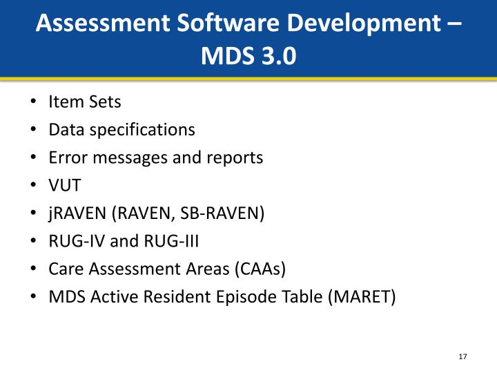 Assessment Software Development –