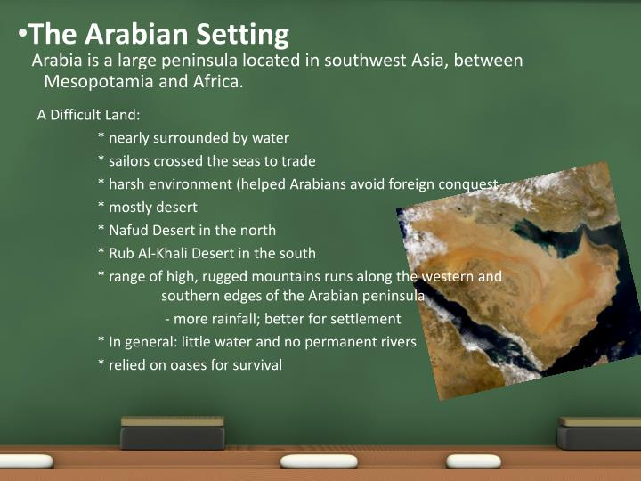 The arabian setting