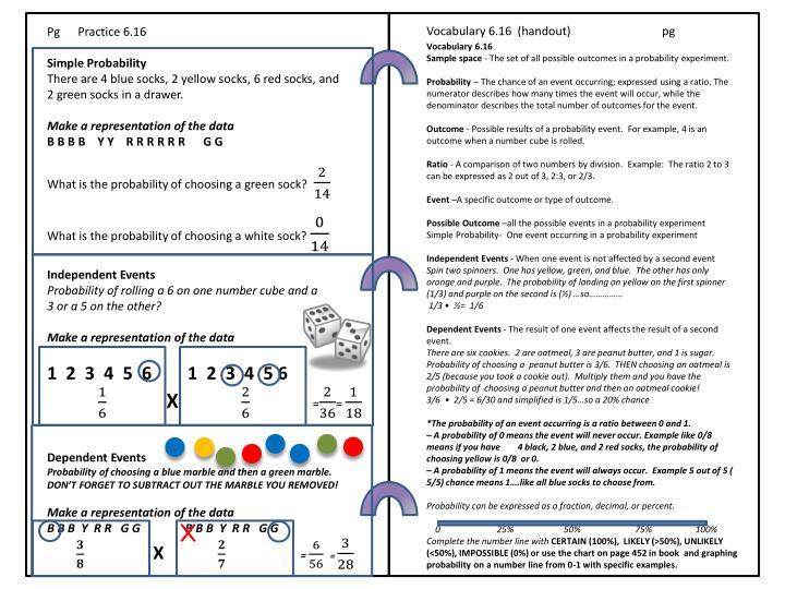 Vocabulary 6.16  (handout)
