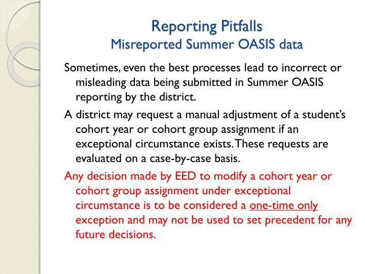 Reporting Pitfalls