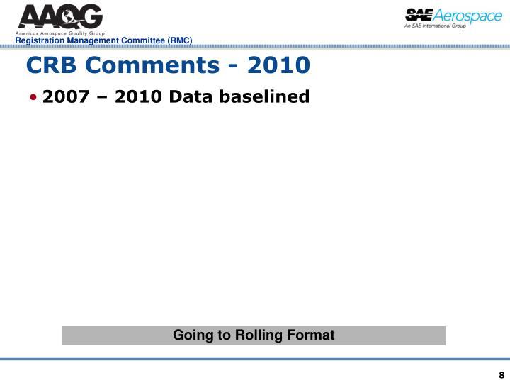 CRB Comments - 2010