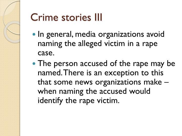 Crime stories III