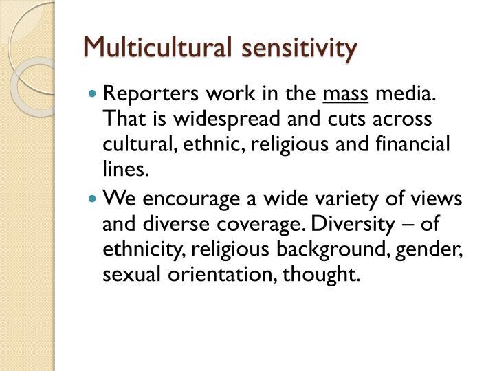 Multicultural sensitivity