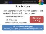 pair practice