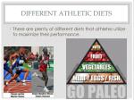 different athletic diets