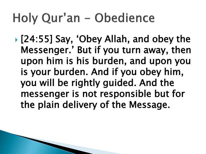 Holy qur an obedience1