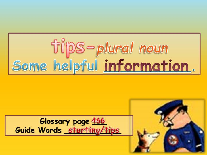 Tips-