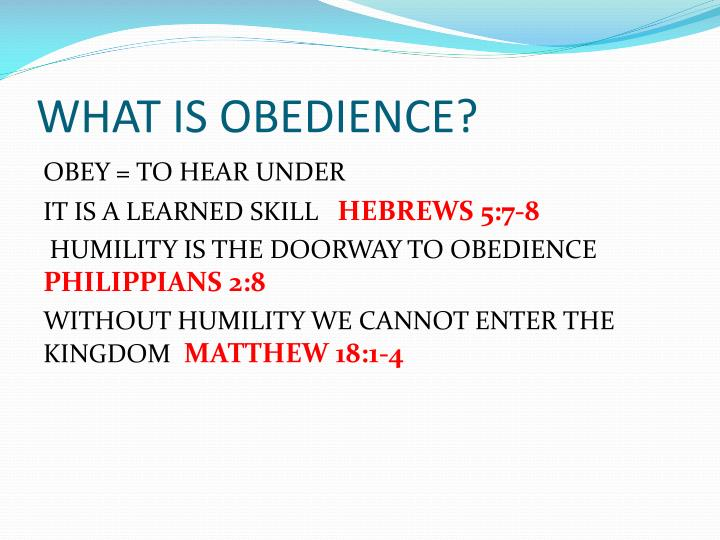 What is obedience