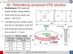 st petersburg proposal cfd studies