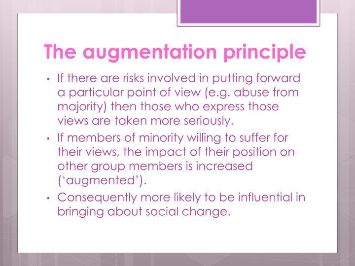 The augmentation principle