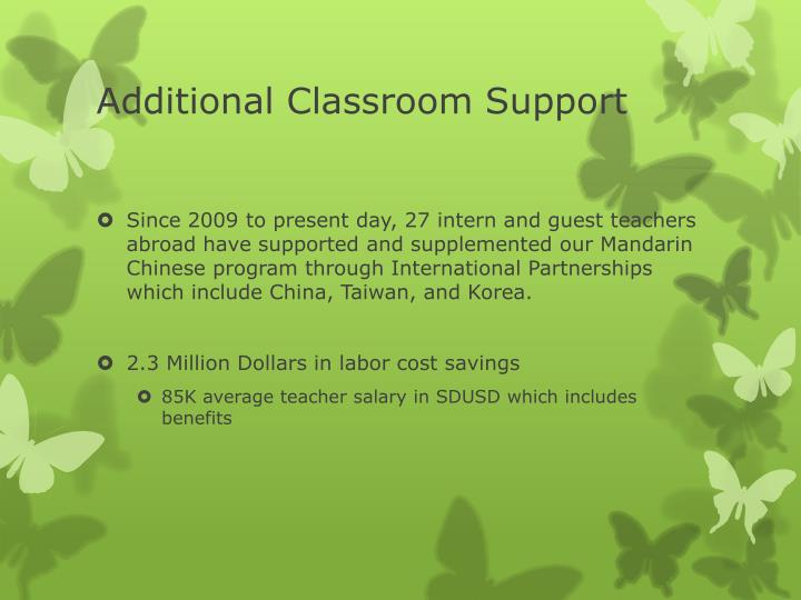 Additional Classroom Support
