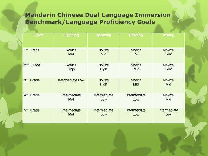 Mandarin Chinese Dual Language Immersion