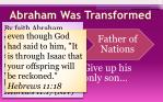 abraham was transformed1