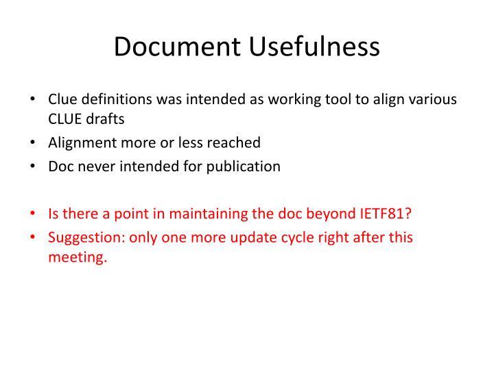 Document usefulness