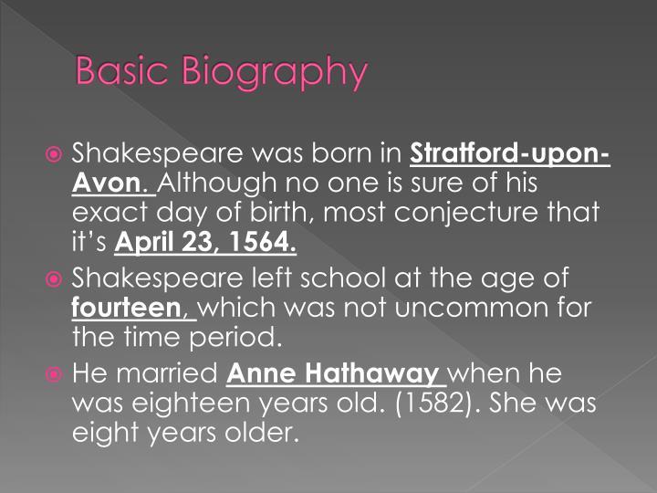Basic biography