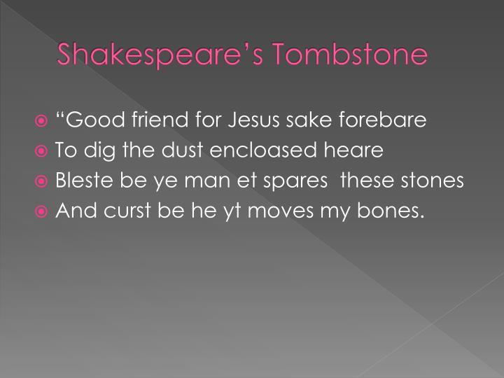 Shakespeare's Tombstone