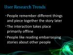 user research trends