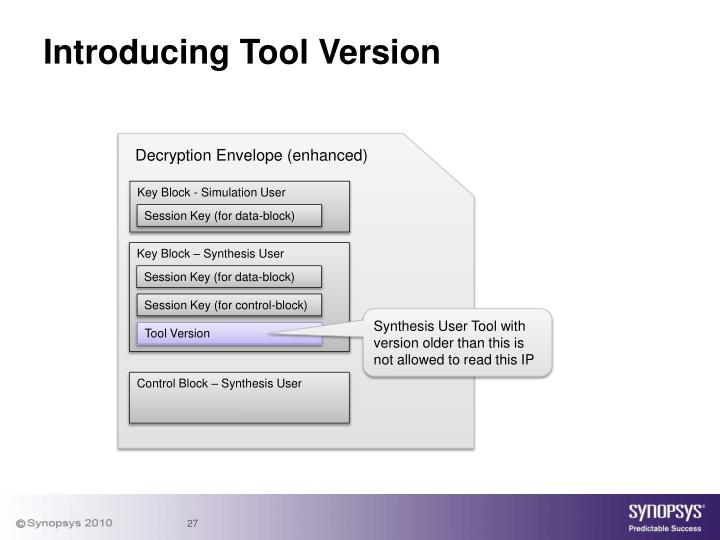 Introducing Tool Version