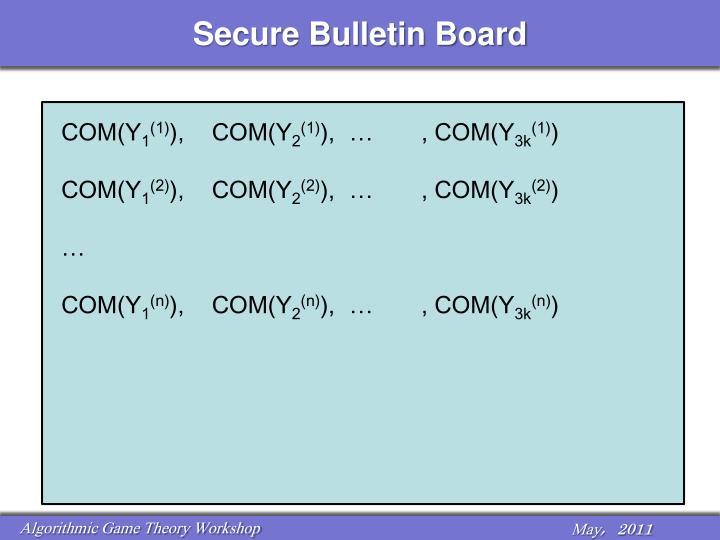 Secure Bulletin Board