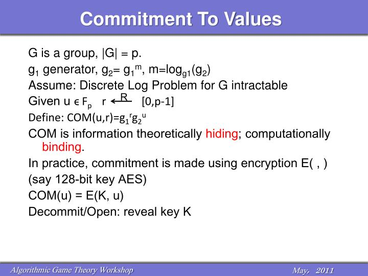 Commitment To Values
