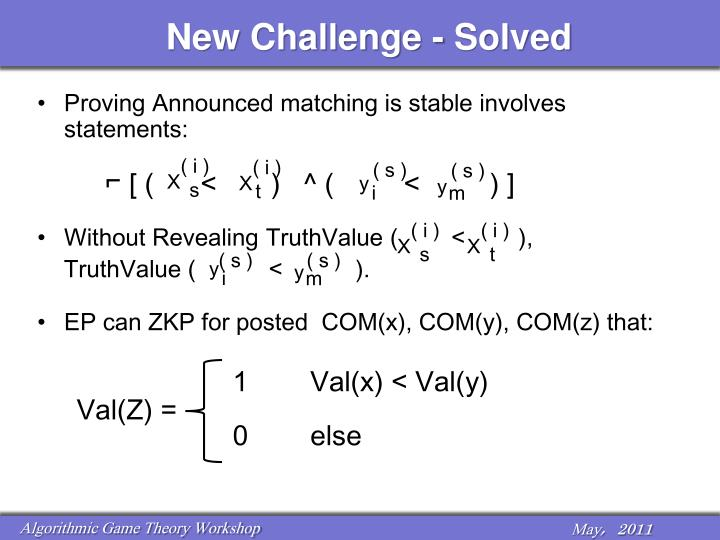 New Challenge - Solved