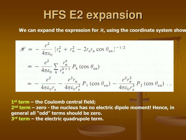 HFS E2 expansion