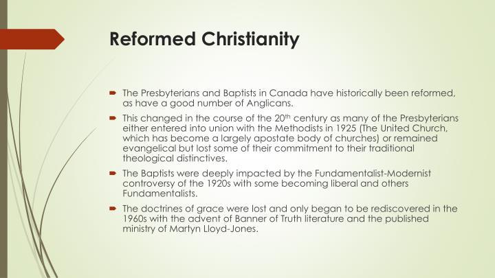 Reformed Christianity