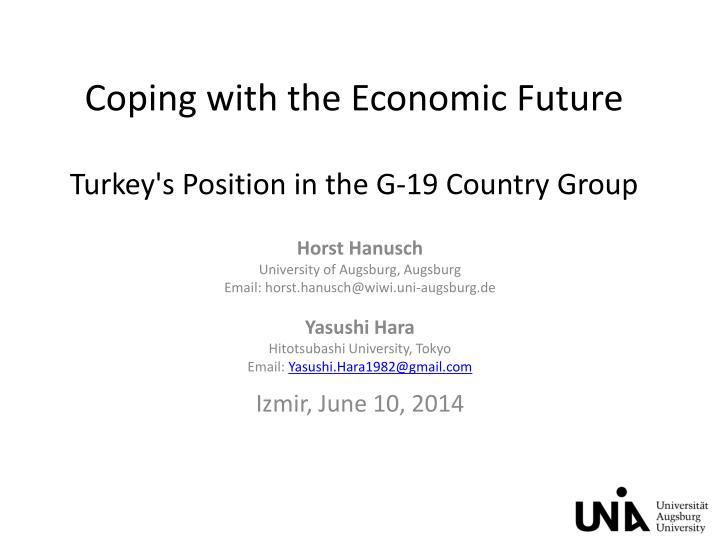 coping with the economic future turkey s position in the g 19 country group n.
