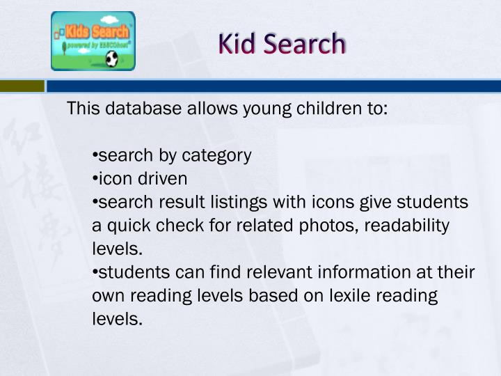 Kid Search