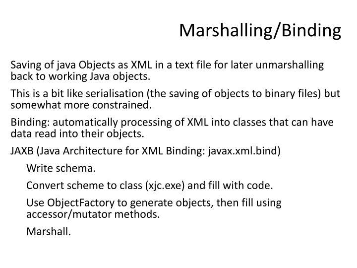 Marshalling/Binding