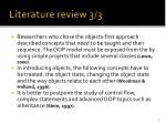 literature review 3 3