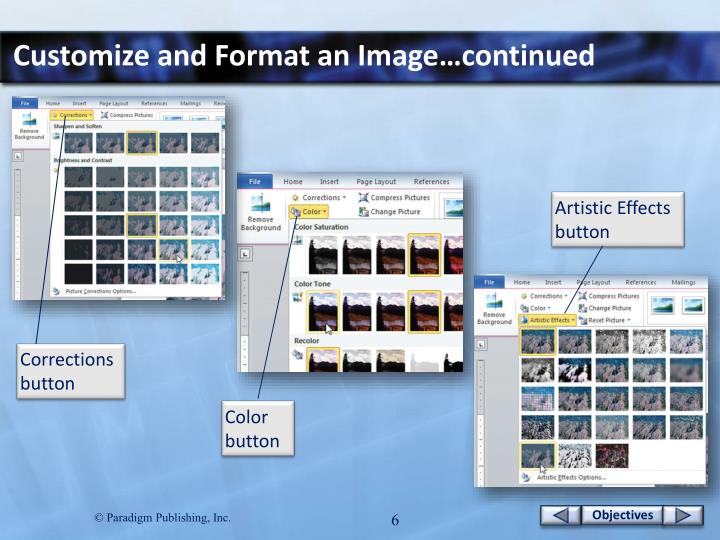 Customize and Format an