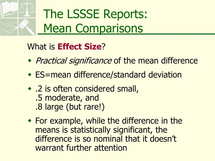 The LSSSE Reports: