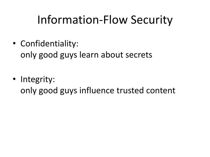 Information-Flow Security