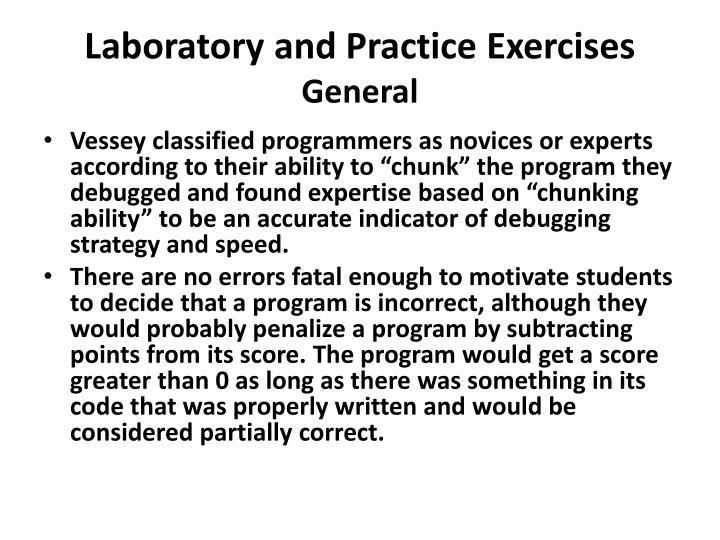 Laboratory and Practice Exercises