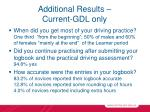 additional results current gdl only