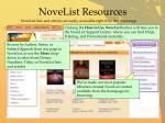 novelist resources