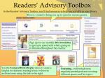 readers advisory toolbox