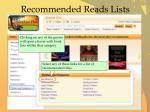 recommended reads lists1