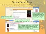 series detail page
