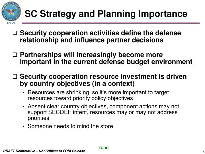 SC Strategy and Planning Importance