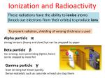 ionization and radioactivity1