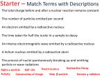 starter match terms with descriptions