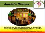 jamba s mission