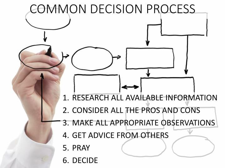 COMMON DECISION PROCESS