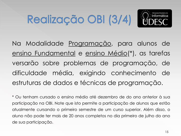Realização OBI (3/4)