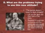 d what are the problems trying to use this new attitude2