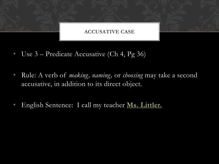 Accusative case