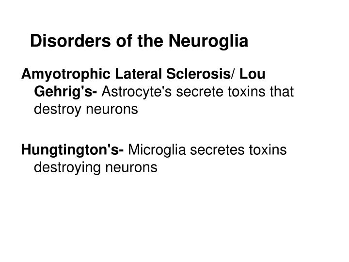 Disorders of the Neuroglia