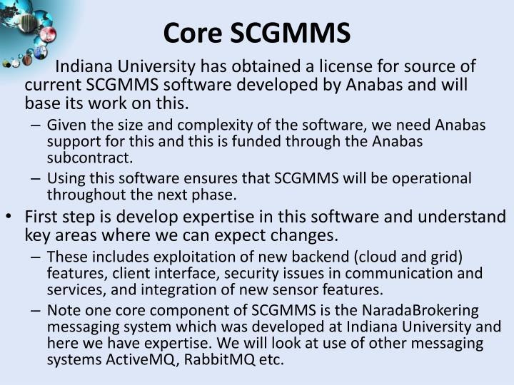Core scgmms